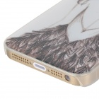 Alívio Beautiful Girl's Back Style Protective PC Back Case para Iphone 5 / 5s - Branco + Transparente