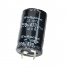470UF/250V Electrolytic Capacitor - Black