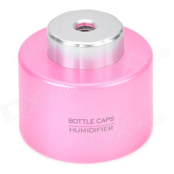Portable USB Powered Water Bottle Mounted Air Humidifier - Pink
