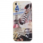 Relief Eiffel Tower & Zebra Style Protective PC Back Case for Iphone 5 / 5s - Multicolor