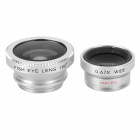 LX-P301 Clip Fisheye + Wide Angle + Macro Lens for Iphone 4 / 4s / 5 / Samsung i9300 - Silver