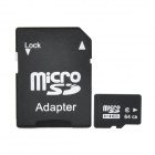 Micro SDHC TF Card w/ SD Adapter - Black (64GB / Class10)