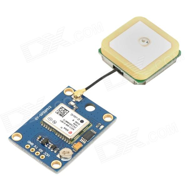 GY-GPS6MV1 NEO-6M GPS Module for MWC/AeroQuad Flight Control Board - Multicolored gy neo6mv2 neo 6m gps module neo6mv2 with flight control eeprom mwc apm2 5 large antenna for arduino