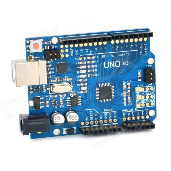 UNO R3 ATmega328P UNO R3 Development Board - Deep Blue open smart uno atmega328p development board