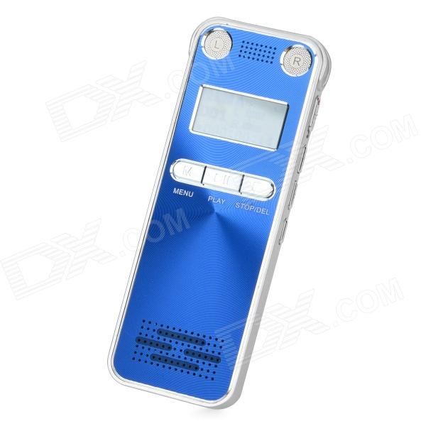 H-100 Professional Digital Voice Recorder w/ FM / Built-in Speaker - Blue + Silver