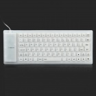 85-Key Soft Silicone USB 2.0 Wired Keyboard - White + Black