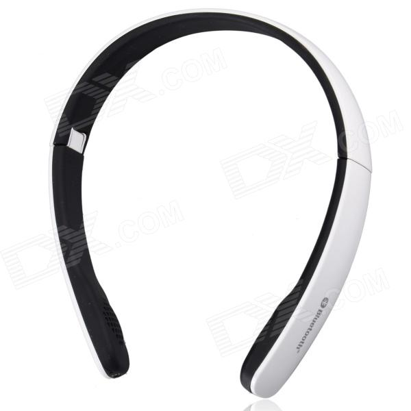 Suicen AX-671 Bluetooth V4.0 + EDR Stereo Headphone w/ Wired / Wireless 2-Mode / Microphone - White kinrener hbs 740 bluetooth v4 0 aptx wireless stereo headset headphone w microphone green white