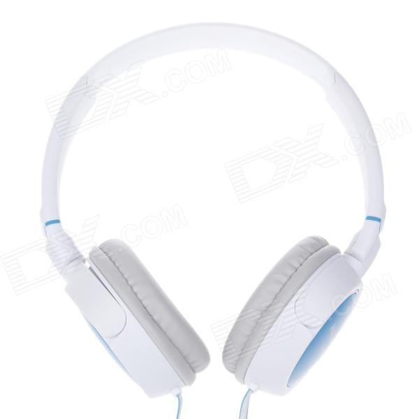 Hyglabal X-42BT Stereo Headset Headphones for Computer - White + Blue (3.5mm Plug / 220cm-Cable)