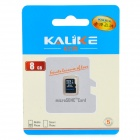 Genuine KALIKE MicroSD / TransFlash TF Memory Card - Black (8GB / Class 4)
