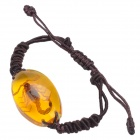 YL14 Yellow Scorpion Pattern Acrylic Bracelet - Coffee + Dark Yellow