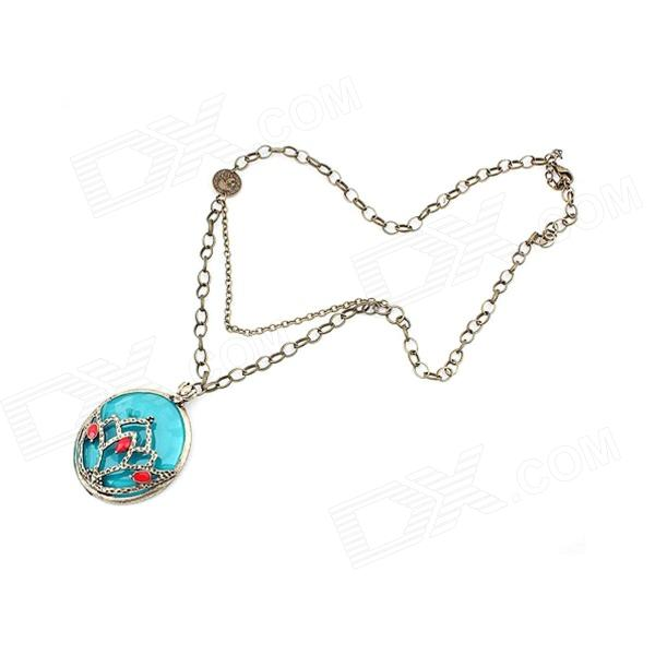 Vintage Delicate Exotic Style Women's Necklace - Lake Blue гриф mb barbell 2200 мм d 50 мм замок стопорный
