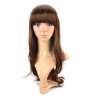 HM 774AE Cosplay Women's Natural Long Curly Hair Wig - Brown