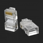 RJ45 8pin ABS Modular Plug Connector - Transparent (50 PCS)