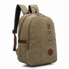 K2 Modische Canvas Laptop Backpack - Khaki