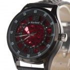 Daybird 3814 Fashionable Cow Split Leather Band Men's Automatic Mechanical Wrist Watch - Red + Black
