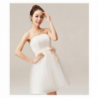 Woman Brief Paragraph Bridal Gowns Dress - White (XL)