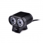 UltraFire 2-LED 4-Mode 1800lm White Bike Light / Headlamp - Black (4 x 18650)