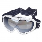 Fashionable UV100 Protection Sunglasses Racing Goggles - Black + White