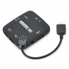 CY Micro USB 3.0 SD / MS / TF Card Reader w/ 3-Port USB 2.0 HUB for Samsung Galaxy Note 3 - Black