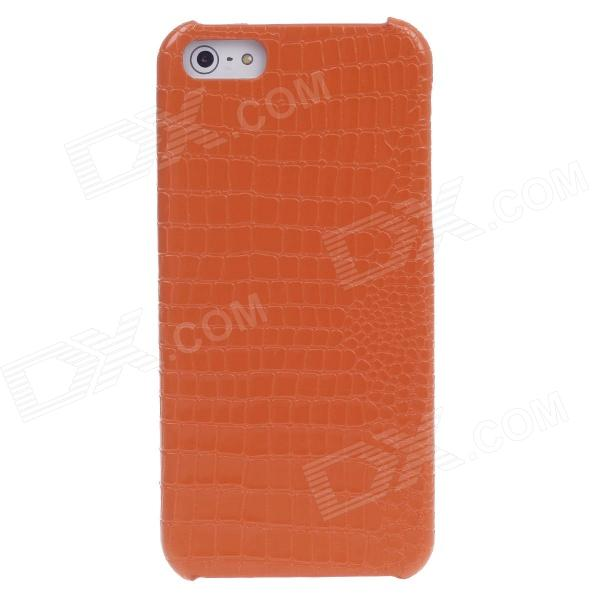 SAYOO 2391 Crocodile Striation Protective PU Leather Back Case for Iphone 5 / 5s - Orange