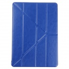 Stylish Ultra Thin Protective PU Leather Case Cover Stand w/ Auto Sleep for Ipad AIR - Blue