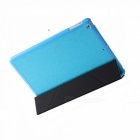 Stylish Ultra Thin Protective PU Leather Case Cover Stand w/ Auto Sleep for Ipad AIR - Lake Blue