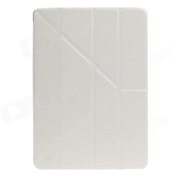 Stylish Ultra Thin Protective PU Leather Case Cover Stand w/ Auto Sleep for Ipad AIR - White