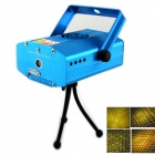 HT-15 Mini 4-Pattern 2-Mode 50mW Green + 100mW Red Laser Stage Lighting Projector w/ Tripod - Blue