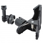 HGYBEST Clamp Mount Adapter for Gopro Hero 4/3+ / 3 / 2 / Cameras / Flashlight / SJ4000 - Black