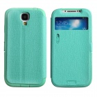 LLMM CM001 Multi-Function Protective PU Leather Case Cover Stand for Samsung Galaxy S4 i9500 - Cyan