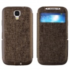 LLMM CM001 Multi-Function Protective PU Leather Case Cover Stand for Samsung Galaxy S4 i9500 -Bronze
