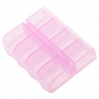 8 Cells Portable PP Medicine Capsule Storage Management Box - Pink