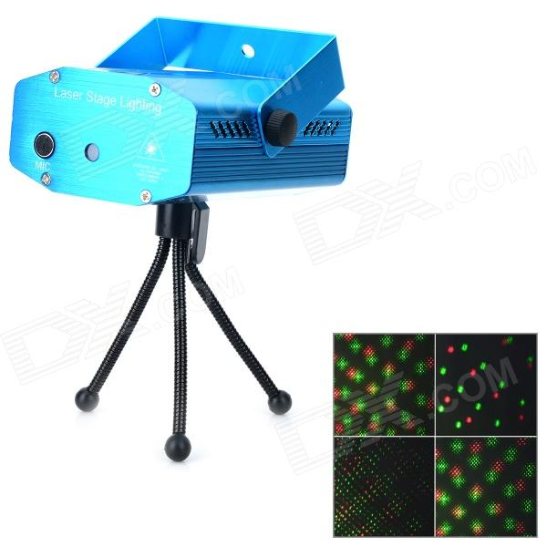 XL-S-D09 4-i-1 Mini Aluminum RGB LED Laser Stage Lampe (US Plugger)