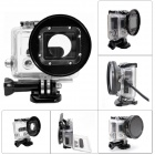 Fat Cat Enhanced Side Open Protective Case w/ 58mm Lens Converter for GoPro Hero3+ / Hero3 - Black