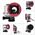 Fat Cat Enhanced Side Open Protective Case w/ 58mm Lens Converter for GoPro Hero3+ / Hero3 - Red