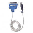 USB 2.0 Male to IEEE 1284 Printer Connection Cable - Blue + Silver (150cm)