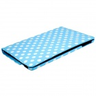 Stylish Polka Dot Pattern 360' Rotation PU Leather Case Cover Stand for Ipad AIR - Sky Blue + White