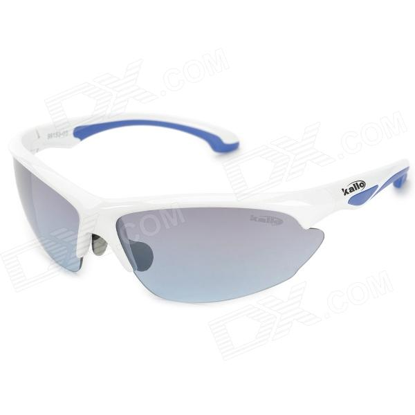 KLLO 99150 Multifunction Outdoor Sports UV400 Protection Blue Lens Goggles -  White