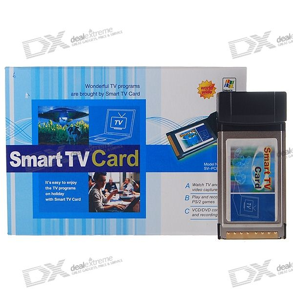 Analog TV Tuner and Video Capture PCMCIA Cardbus Card for Laptops (NTSC+PAL+SECAM)