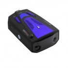 "V7- 1.5"" Display Car Radar Detector w/ Car Charger - Black (12V / English / Russian)"