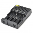 TANGSPOWER T4 4-Slot Multifunction Li-ion / NiCd / Ni-MH Battery Charger - Black (EU Plug)