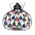 GuoMan Pastoralism Jewelled Beetle Wall Decor Art - Multicolored