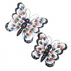 GuoMan Pastoralism Jewelled Butterfly Wall Decor Art - Multicolored