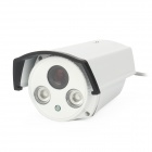 "HS-902DZTC Waterproof 700TVL 8mm 1/3"" CCD Surveillance Security Camera w/ 2-IR LED - White"