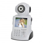 "NPC ZB-NPC003 3.5"" LCD 1/3 CMOS IP Network Camera / Recorder w/ Wi-Fi / TF / Mic - White + Black"