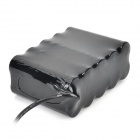8.4V 8000mAh Rechargeable 10*18650 Battery Pack - Black