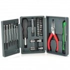 24-in-1 Knives Pliers Screwdriver Home Repair Tool Set - Multicolored