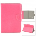"Universal Protective PU Leather Case for 7"" Tablet PC - Deep Pink"