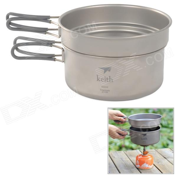 Keith KP6016 Titanium Pots (600ml / 950ml) - DXCooking Stove &amp; Hardware<br>Color Silver Grey Brand OthersKeith Model KP6016 Quantity 1 Set Material Titanium Best Use Family &amp; car campingBackpackingCampingMountaineeringTravel Type Pots &amp; Pans Packing List 1 x Pot (600ml) 1 x Pot (950ml) 1 x Bag<br>