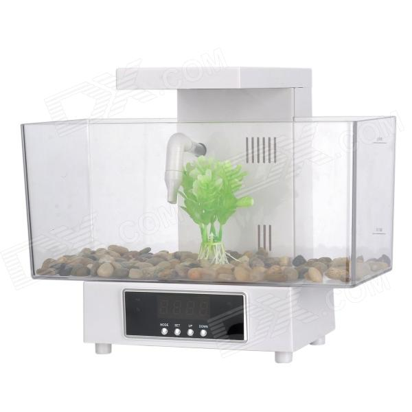KW-2013D Fashion 1.8W USB 13-White LED + 2-Colorful LED Fish Tank Set - White + Translucent free shipping precision digital adjustable dc power supply cps1620 16v20a with ovp ocp otp dc power 0 01a 0 1v